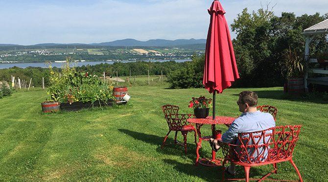 L'île d'Orléans offre les plus belles vues de la ville de Québec, de l'autre côté du fleuve