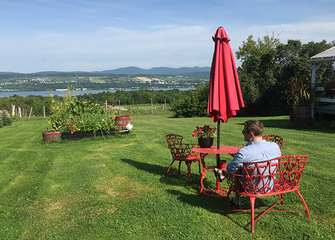 Ile d'Orleans offers the best views of Quebec City, from across the St. Lawrence river