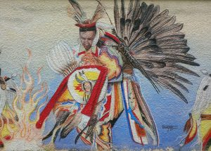 A detail from one of the many beautiful murals around The Pas, Manitoba
