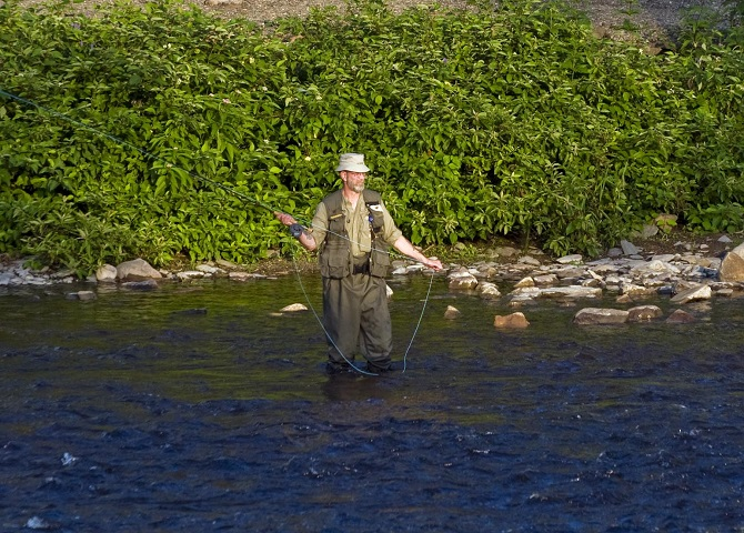 Fly fishing trip, Salmon fishing Canada, Restigouche river