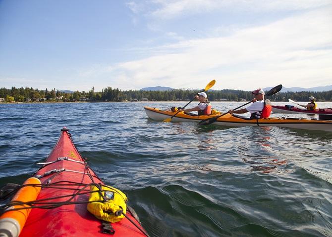 Kayaking Nanoose Bay, Vancouver, BC