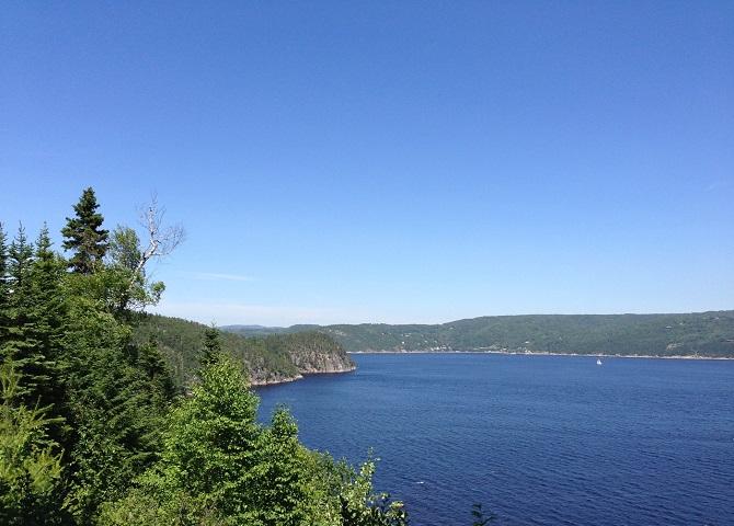 le célèbre fjord du Saguenay