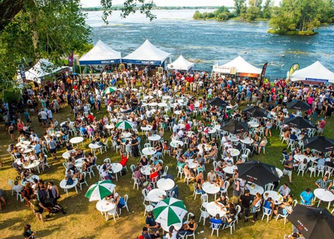 Bières et Saveurs de Chambly, Richelieu River, Quebec