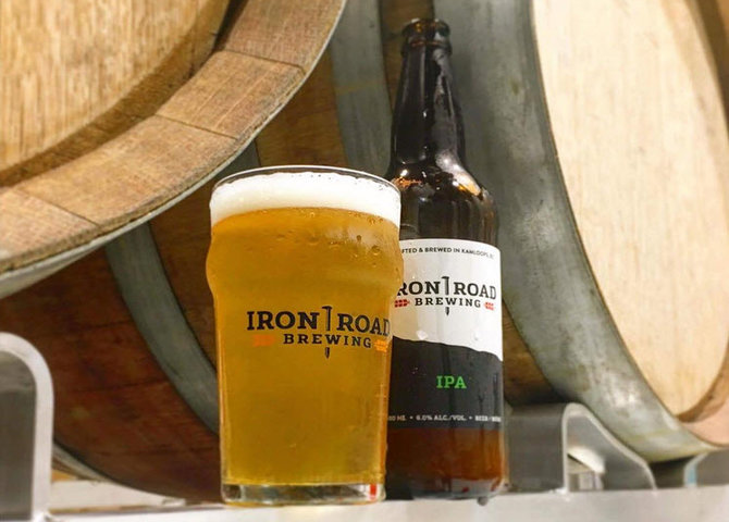 An IPA beer at Iron Road Brewing (© @ironroadbrewing)