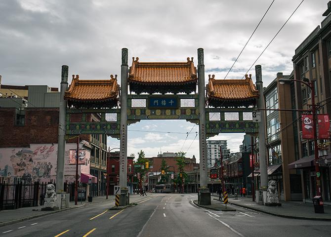 La porte d'entrée du quartier chinois Millennium Gate