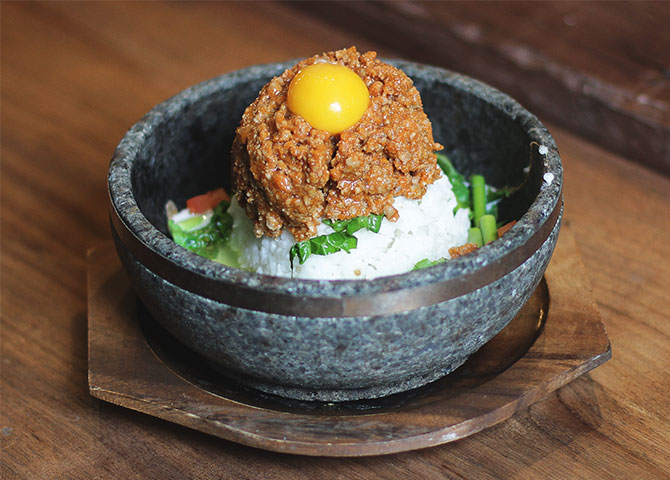 A bowl of Miso Pork Ishiyaki at Hapa Izakaya (©Hapa Izakaya)