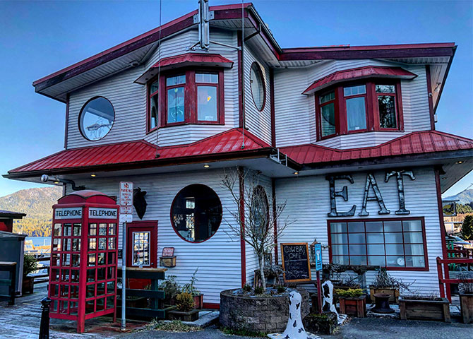 The Cow Bay Café and Eagle Bluff B&B.