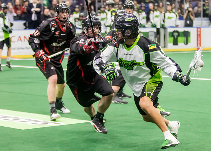 The Saskatchewan Rush in action.