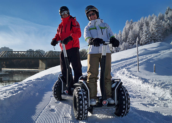 Take a tour of the Edmonton River Valley on a Segway. (© EEDC)