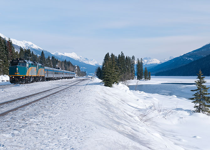 Sit back and take in the views on VIA Rail's Canadian train.