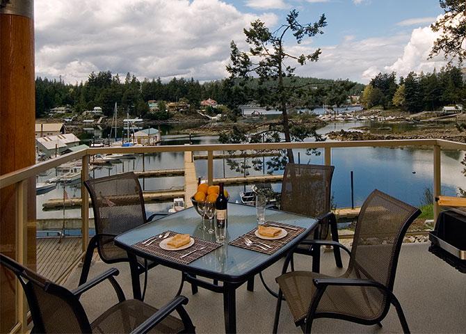 La vue d'une chambre du Painted Boat Resort (© Painted Boat Resort)