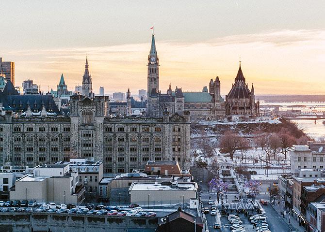 La vue de la colline du Parlement