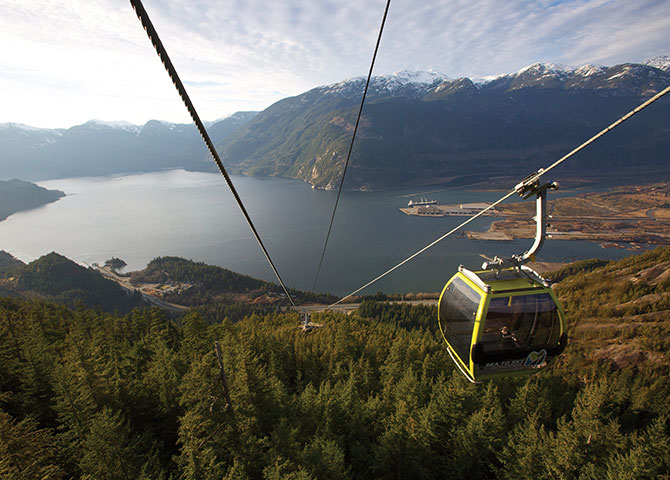La télécabine Sea to Sky est l'une des attractions les plus populaires de Squamish (© Paul Bride, Sea to Sky Gondola)