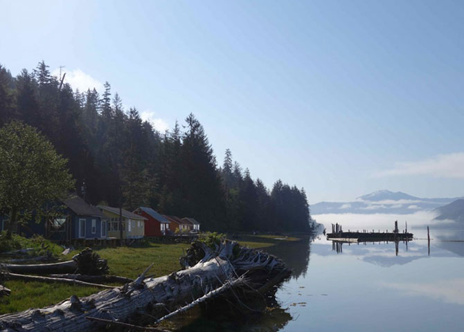 Serene views at Cassiar Cannery (©Cassiar Cannery)