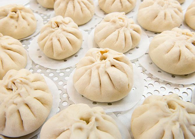 Essayez les dumplings au porc chez Chenpapa (©Seaport Market)