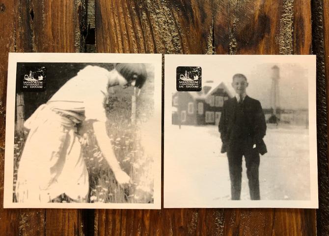 Simon's grandparents in Le Sanatorium back in the day