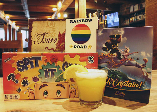 Play a board game or have a drink at Level One Pub's Rainbow Road event (© Rainbow Road)