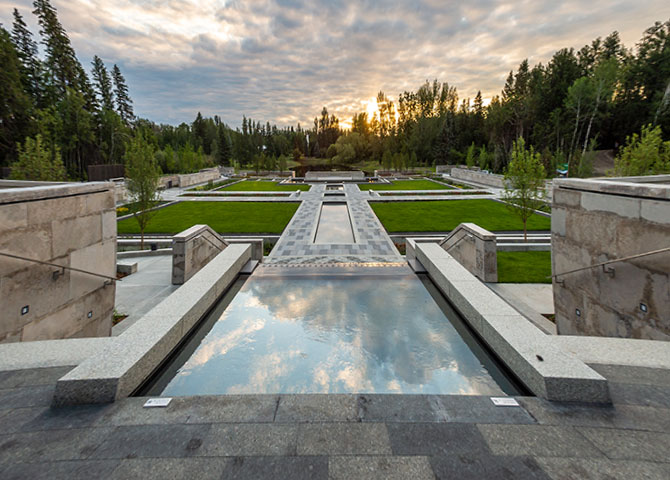 Discover the Aga Khan Garden at the University of Alberta Botanic Gardens