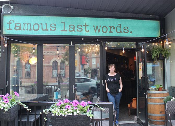 Famous Last Words propose des boissons d'inspiration littéraire
