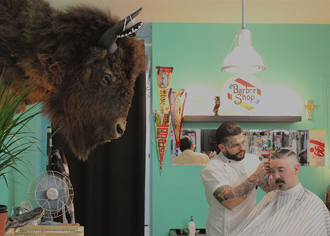 Head to Nite Owl Barbershop for a clean shave or cut