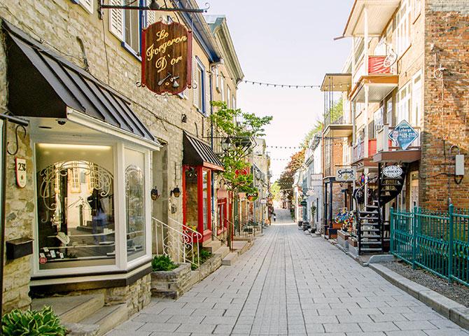 Les rues pittoresques de la ville de Québec