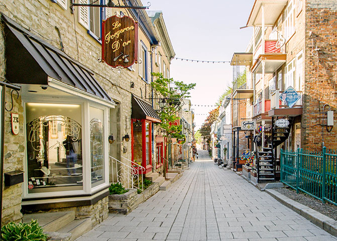 The picturesque streets of Quebec City