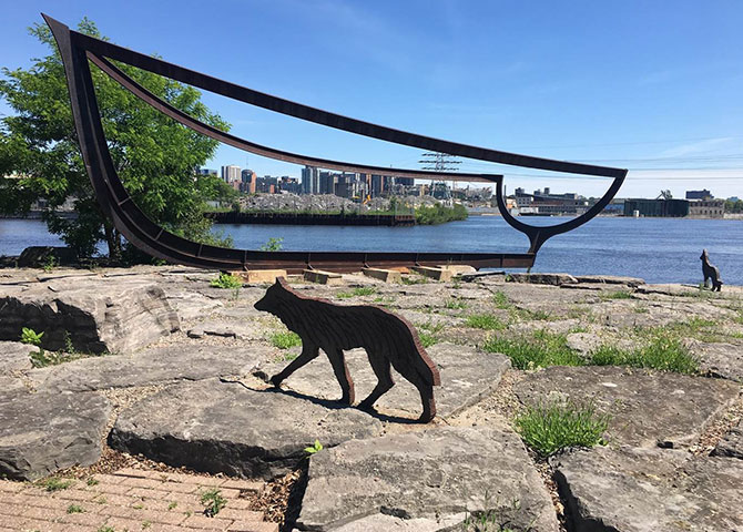 Take a walk through Old Hull and discover some of the sculptures along the Ottawa River