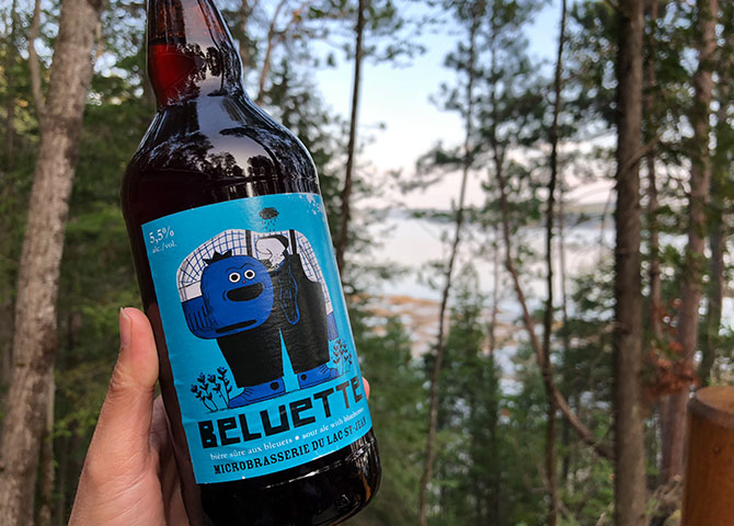 Try a blueberry brew from the Microbrasserie du Lac St-Jean