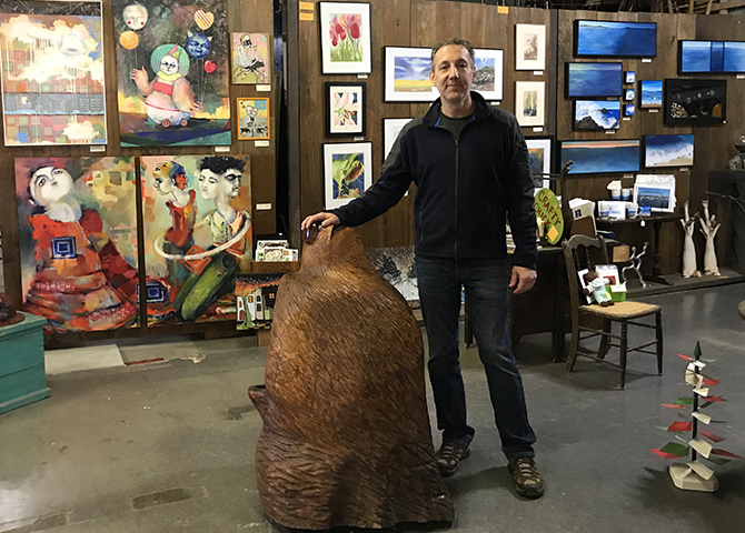 Shane Myers, owner of the Starving Artist Gallery and Gifts