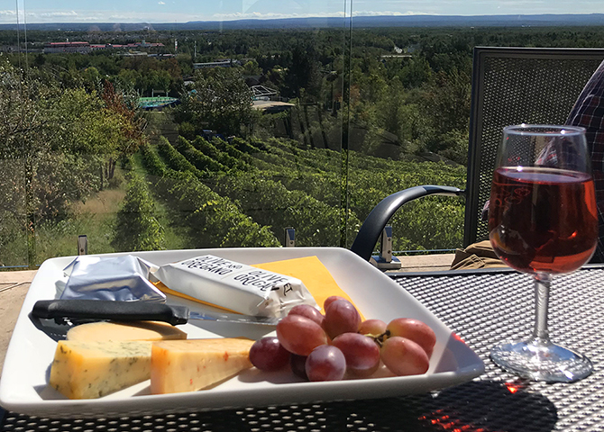 Take in the views with a picnic at Magnetic Hill Winery