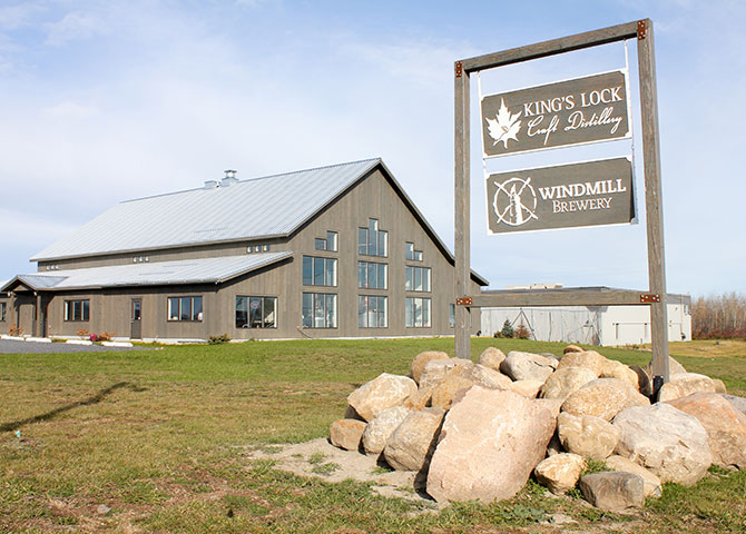 The King's Lock Craft Distillery is one of Ontario's only organic distilleries