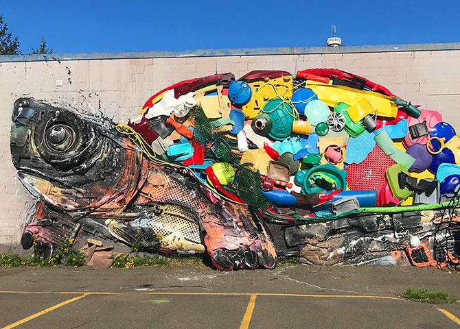 Peinture murale réalisée dans le cadre du festival annuel Inspire