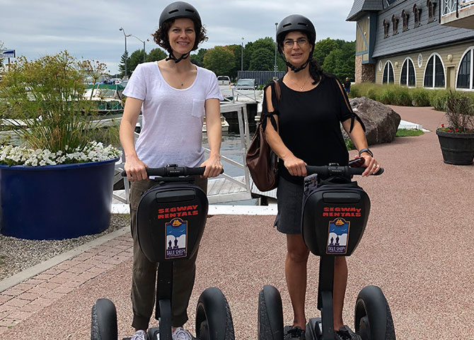 Sisters on segways!