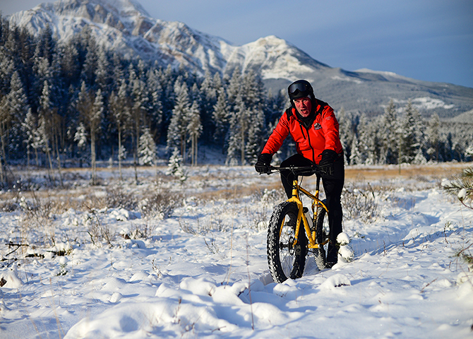 Fat biking Jasper National Park