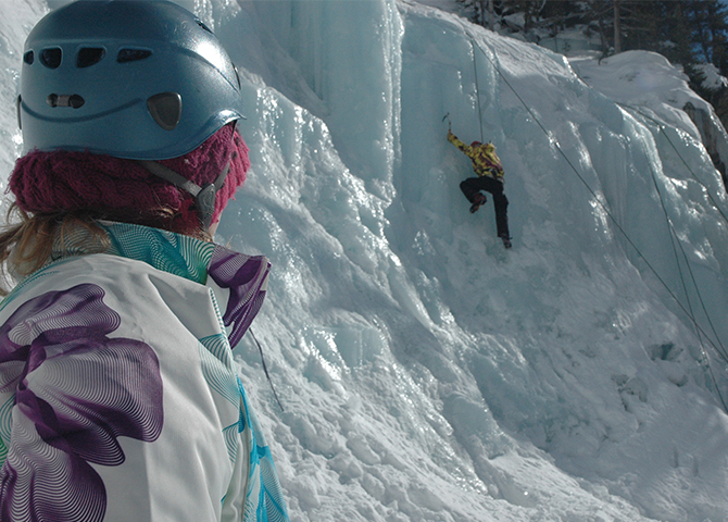 escalade sur glace à Jasper