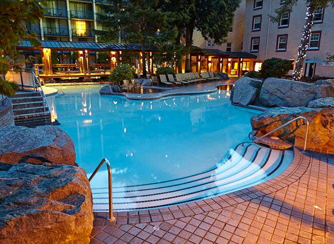 The Hot Spring pools at Harrison Hot Springs Resort