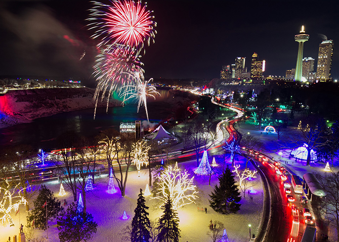 The Winter Festival of Lights in Niagara Falls