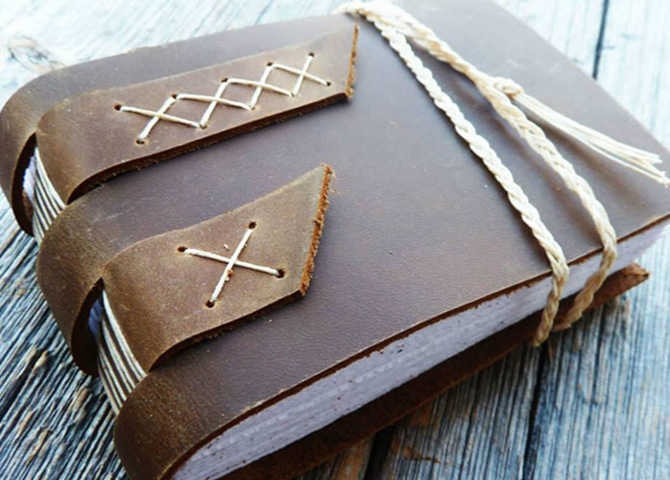 Learn how to make a beautiful leather bound book with book artist and book binder Rhonda Miller in Halifax.