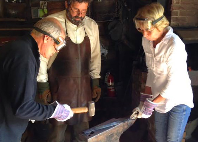 Learn blacksmithing at the Cole Harbour Rural Heritage Society.