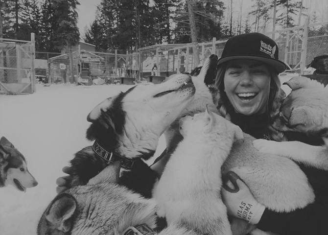 Carlin Kimble, President of Snowy Owl Sled Dog Tours, has been driving sled dog teams since she was four years old.