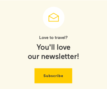 Love to travel? You'll love our newsletter! Subscribe